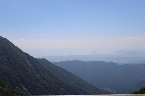 伊吹山からの景色。いい眺め!